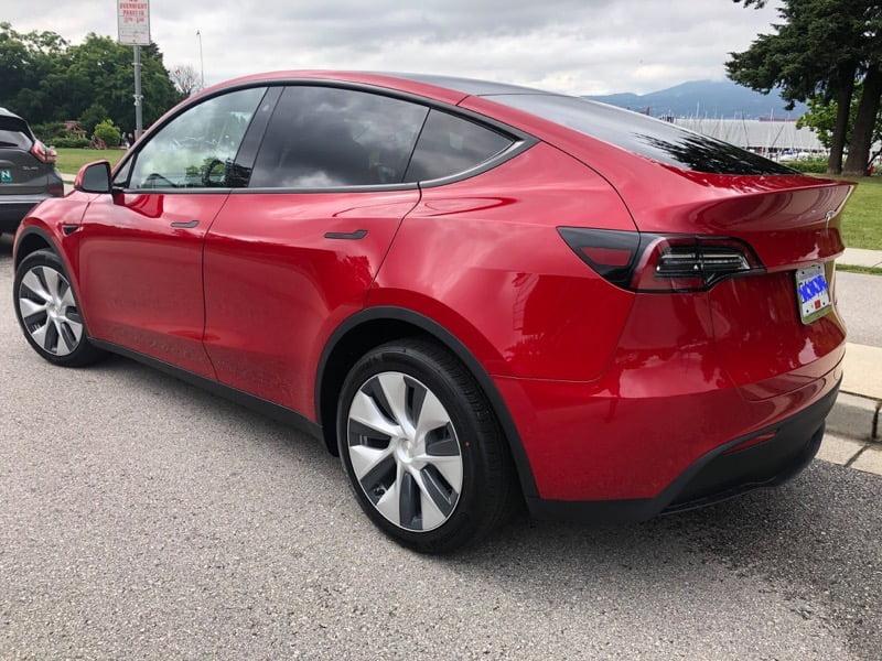 Tesla model y vancouver island