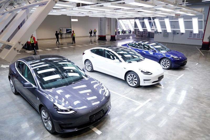 Tesla Model 3 Cars Awaiting Delivery In Shanghai