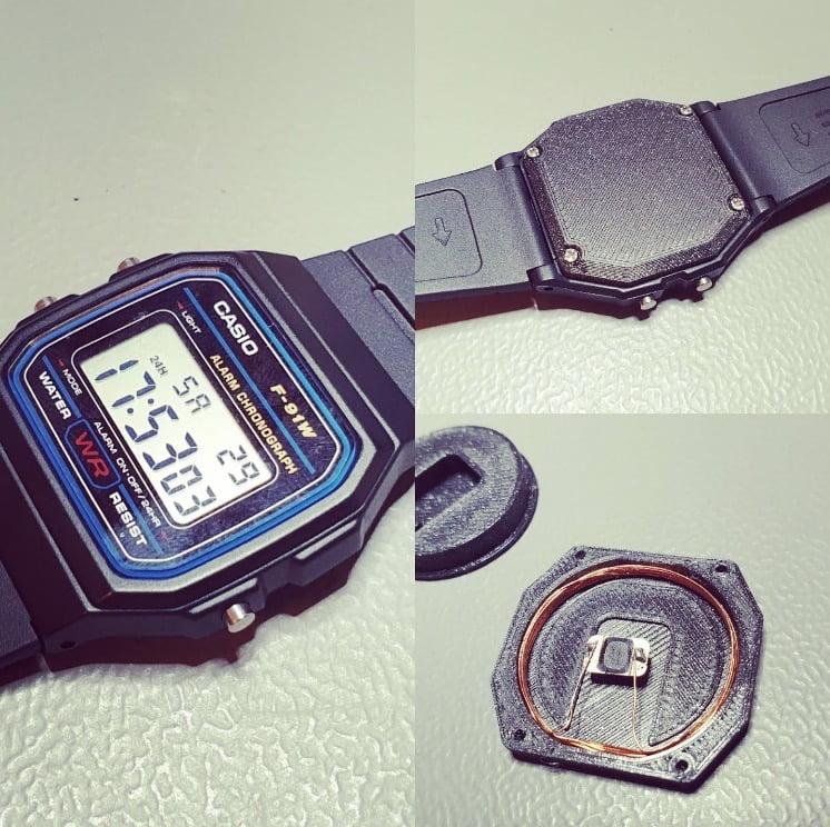 Casio watch tesla model 3 key