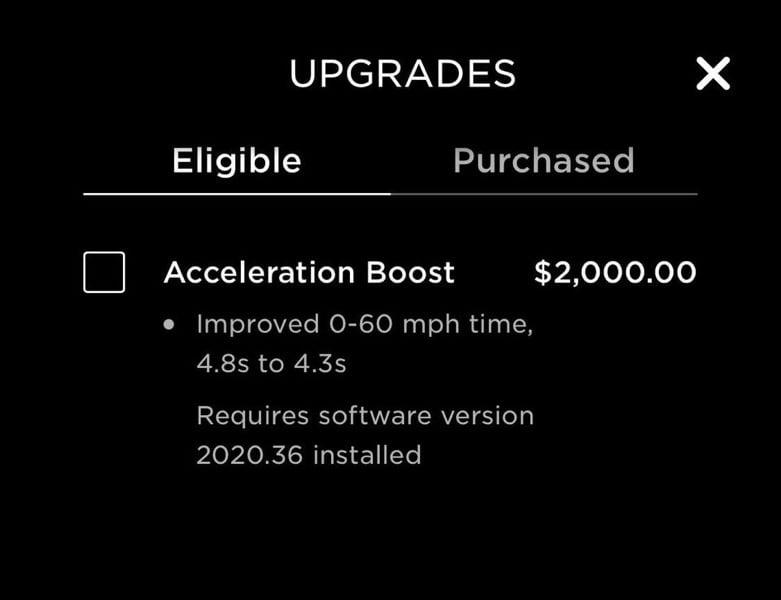 Tesla model y acceleration boost