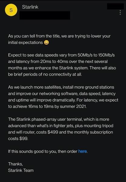 Starlink beta invites