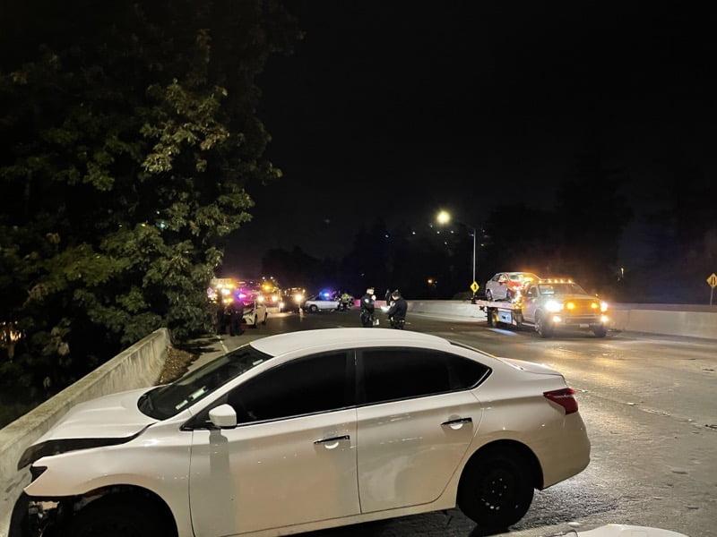 Car hits model 3