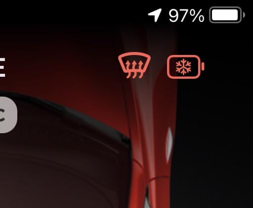 Tesla app heater icon