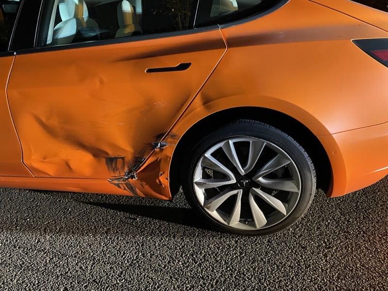 Tesla model 3 damage