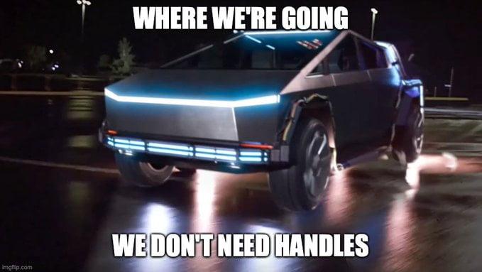 Cybertruck handles no