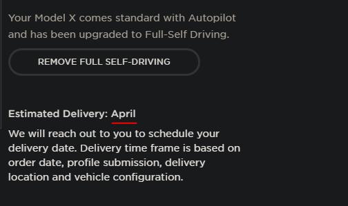 Model x refresh delivery estimate