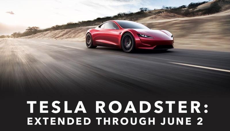 Tesla roadster extended