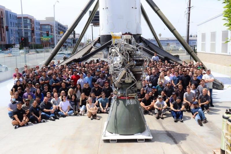 Spacex 100th raptor engine